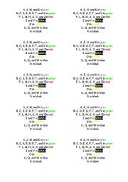 English Worksheet: The alphabet poem