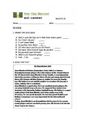 English Worksheets: READING COMPREHENSION AND WRITING FOR ADULTS/ 4 PAGES