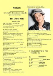 English Worksheet: SONG BRUNO MARS