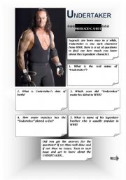 English Worksheets: Legend:The UNDERTAKER