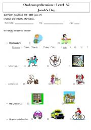 English worksheet: Daily Routines Jacob´s day