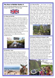 English Worksheets: The Best of British Quirks (2)