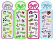 English Worksheet: ANIMAL BOOKMARKS