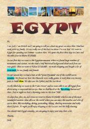 English Worksheet: Egypt