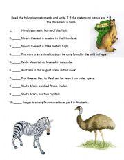 English Worksheets: Bio-guess