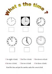 english worksheets whats the time. Black Bedroom Furniture Sets. Home Design Ideas