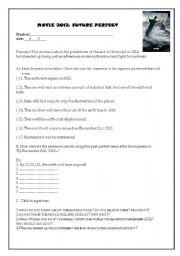 English Worksheets: movie 2012