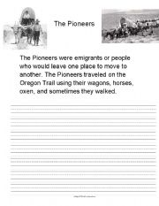 English Worksheets: The Pioneers