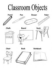 Classroom Objects - worksheet by Cyn