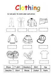 English Worksheet: Clothing # 2