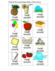 English Worksheets: Rough and Smooth