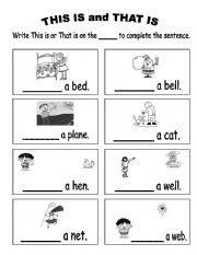 This is and That - ESL worksheet by Yellowismyfavoritecolor