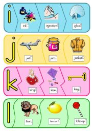 English Worksheet: Phonics puzzle - i to p