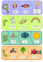 English Worksheet: Phonic puzzles - q to z