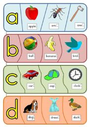 English Worksheet: Phonics puzzles - a to h