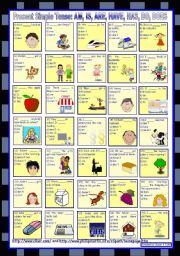 Present Simple Tense: AM, IS, ARE, HAVE, HAS, DO, DOES (and their negative forms) *** with key *** fully editable