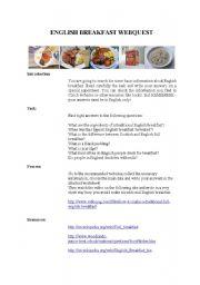 ENGLISH BREAKFAST webquest