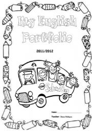 English Worksheet: English Portfolio Cover