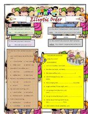 English Worksheets: elliptic order