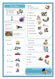 English Worksheets: MY DAY