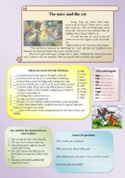 English Worksheets: The mice and the cat