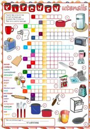 kitchen utensils crossword wow blog. Black Bedroom Furniture Sets. Home Design Ideas
