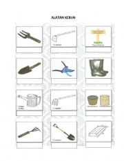 English worksheets gardening tools for Gardening tools 94 game