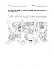 the lion and the mouse esl worksheet by mollyne. Black Bedroom Furniture Sets. Home Design Ideas