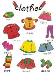 English Worksheet: clothes pictionary 2/2
