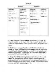 English Worksheets: Giraffes