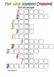 Fun With Numbers Crossword (absolutely for beginners)