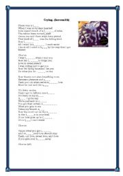 English Worksheets: Crying by Aerosmith