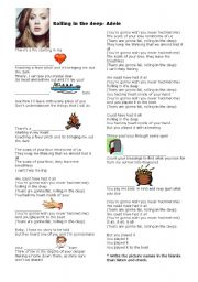 English Worksheets: Adele - Rolling into the Deep - Basic