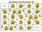English Worksheets: Where is the Bee Preposition Dominoes and Memory Cards Part 3 of 3