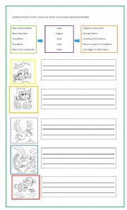English Worksheets: Nemo�s composition