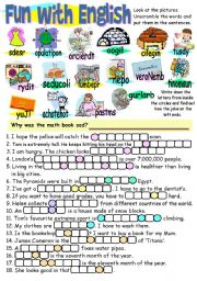 English Worksheets: FUN WITH ENGLISH 1