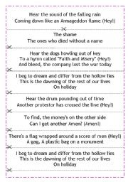 English Worksheets: Green day - Holiday