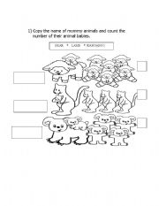 English Worksheets: Animals!