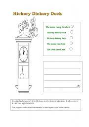hickory dickory dock lyrics pdf