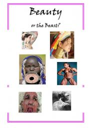 English Worksheets: Beauty or the beast