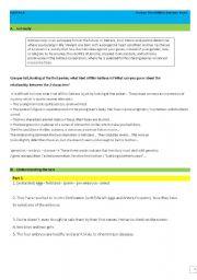 GATTACA reading skills answer keys only