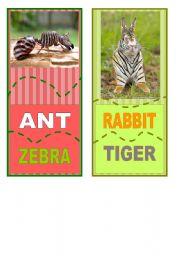 English Worksheets: Crazy animal jisaw  5/6
