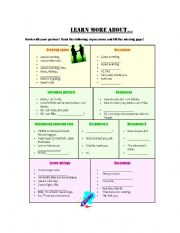 English Worksheets: greetin, introducing and leavetakings