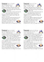 English Worksheets: Passover Explanation