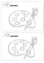 English Worksheet: BINGO TIME !!