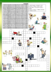 English Worksheets: WORKERS - JOBS  -WORDSEARCH -  B&W + KEY INCLUDE