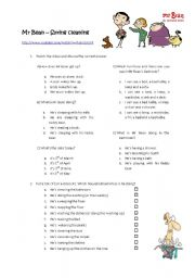 English Worksheet: Mr Bean Spring Cleaning - Household activities