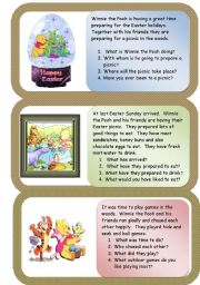 English Worksheets: Winnie the Pooh Easter Mini comprehensions