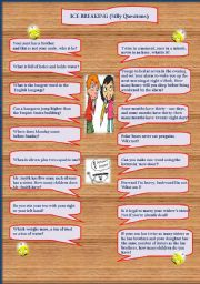English Worksheets: Ice breaking - silly questions