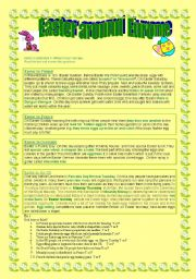 English Worksheet: Easter around Europe-reading comprehension +KEY